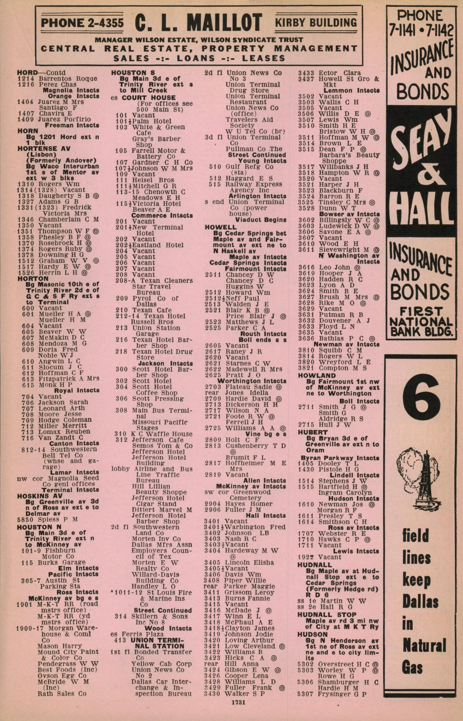 Dallas City Directory, 1933-34 - Page 1,731 - The Portal to Texas ...