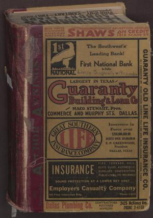 Dallas City Directory, 1933-34