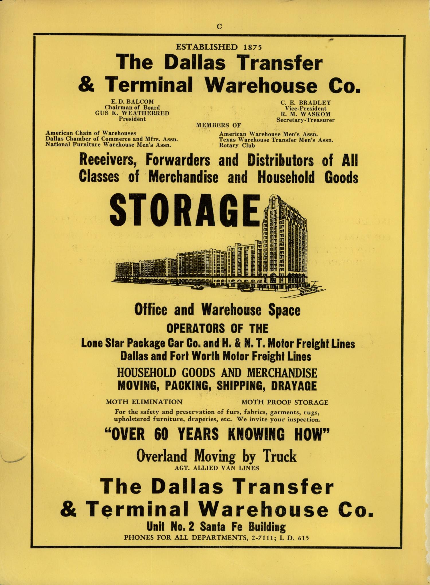 Dallas City Directory, 1939                                                                                                      FRONT TITLE PAGE