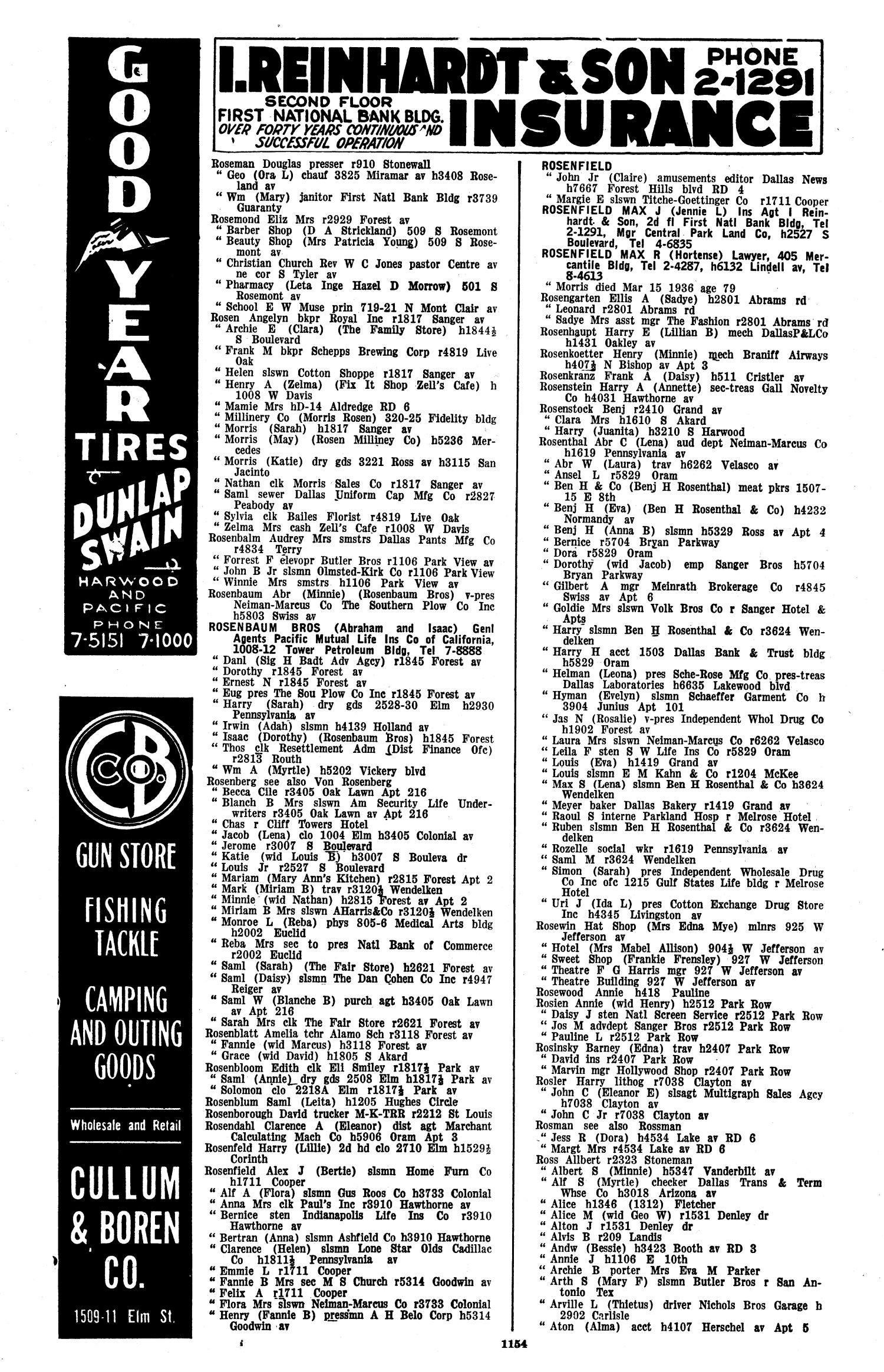Dallas City Directory, 1936 - Page 1,154 - The Portal to Texas History