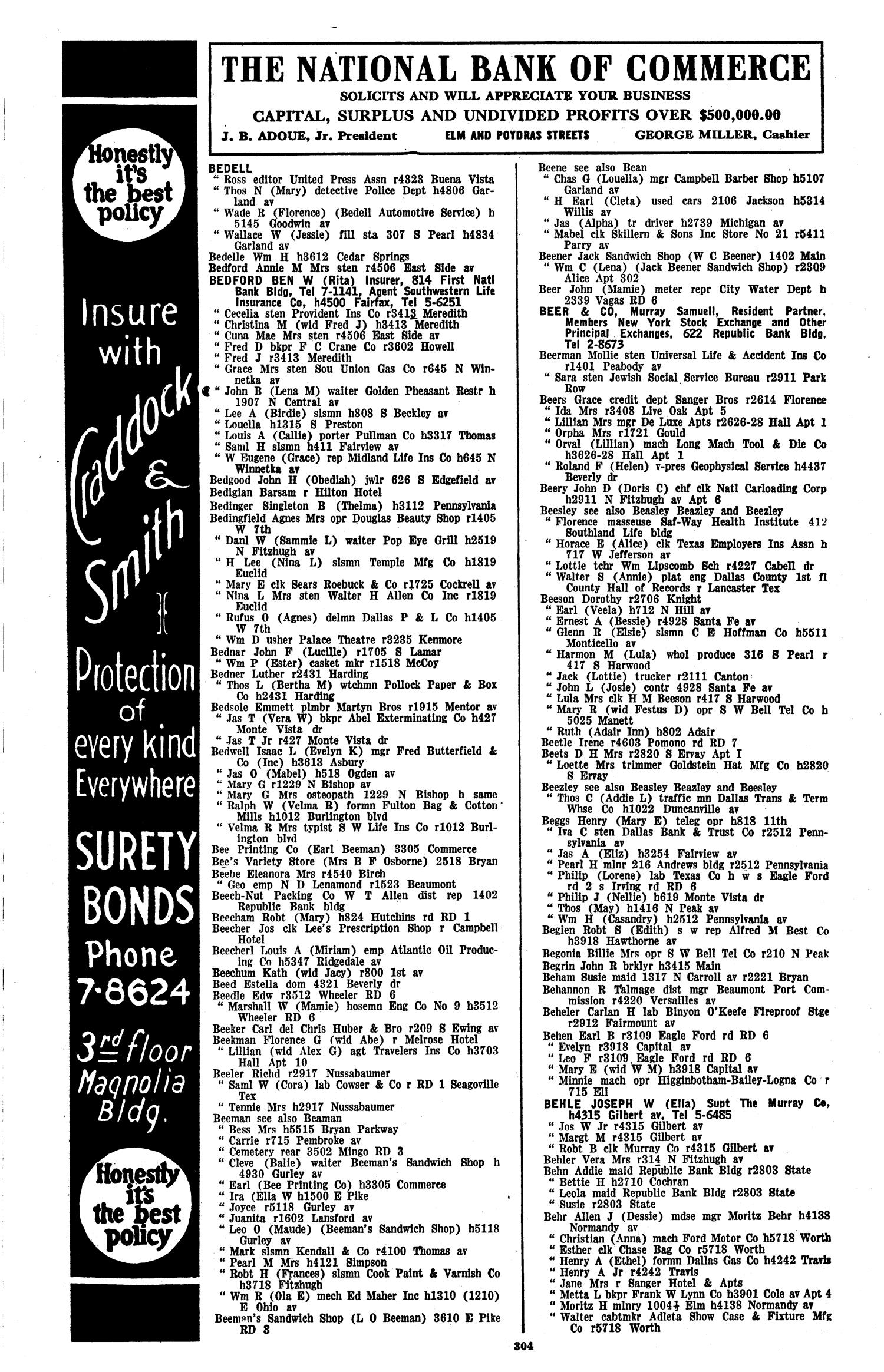 Dallas City Directory 1936 Page 304 The Portal to Texas History