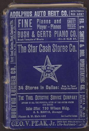 Dallas City Directory, 1915