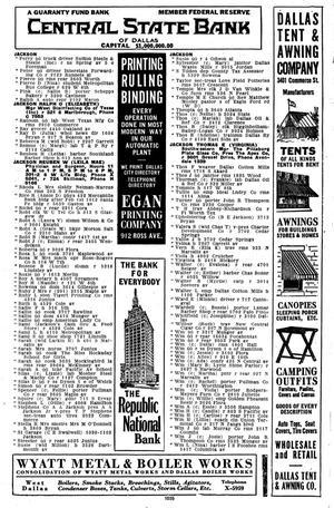 Dallas City Directory, 1924 - Page 1,031 - The Portal to