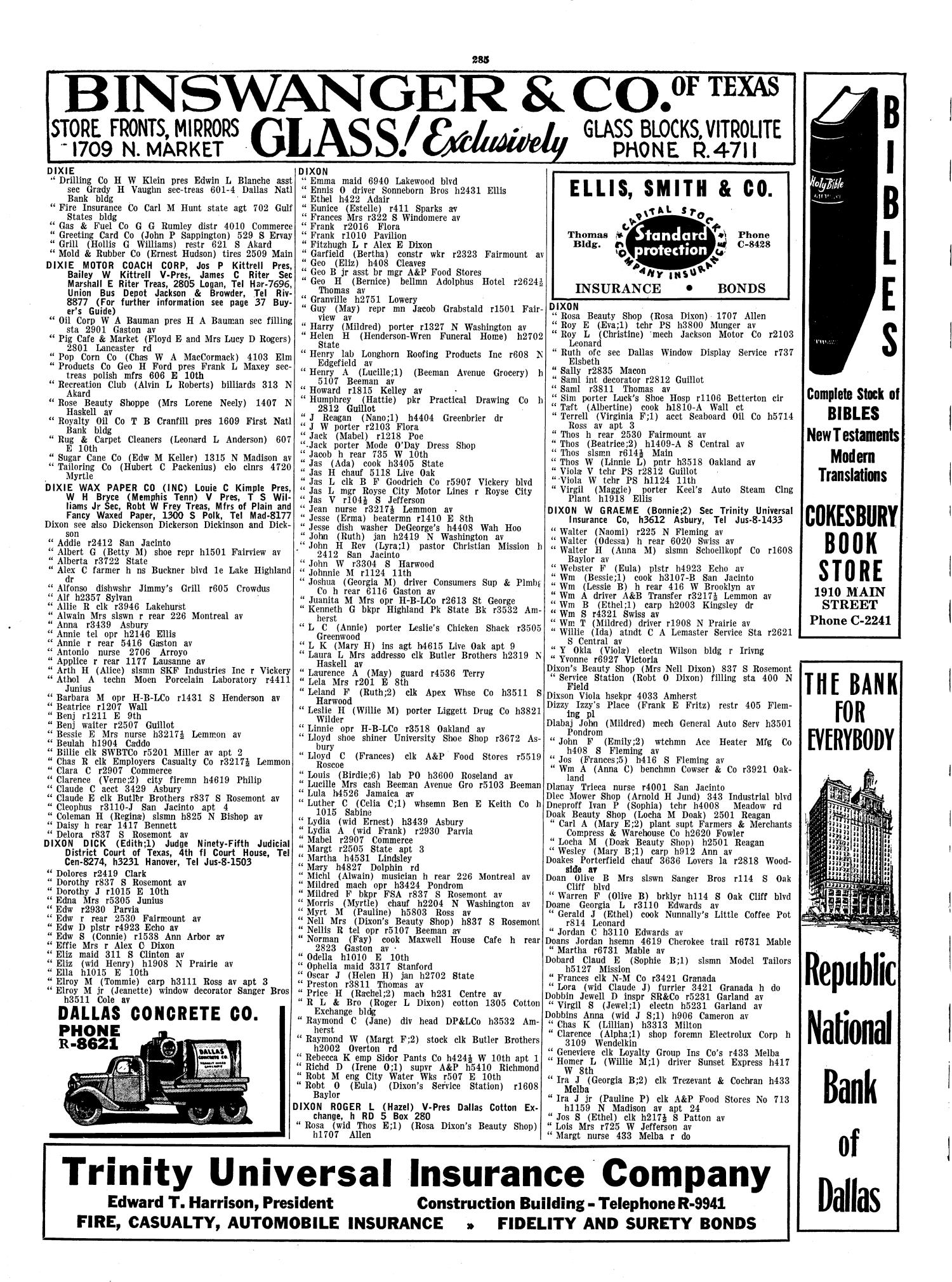 Dallas City Directory, 1941 - Page 285 - The Portal to Texas History