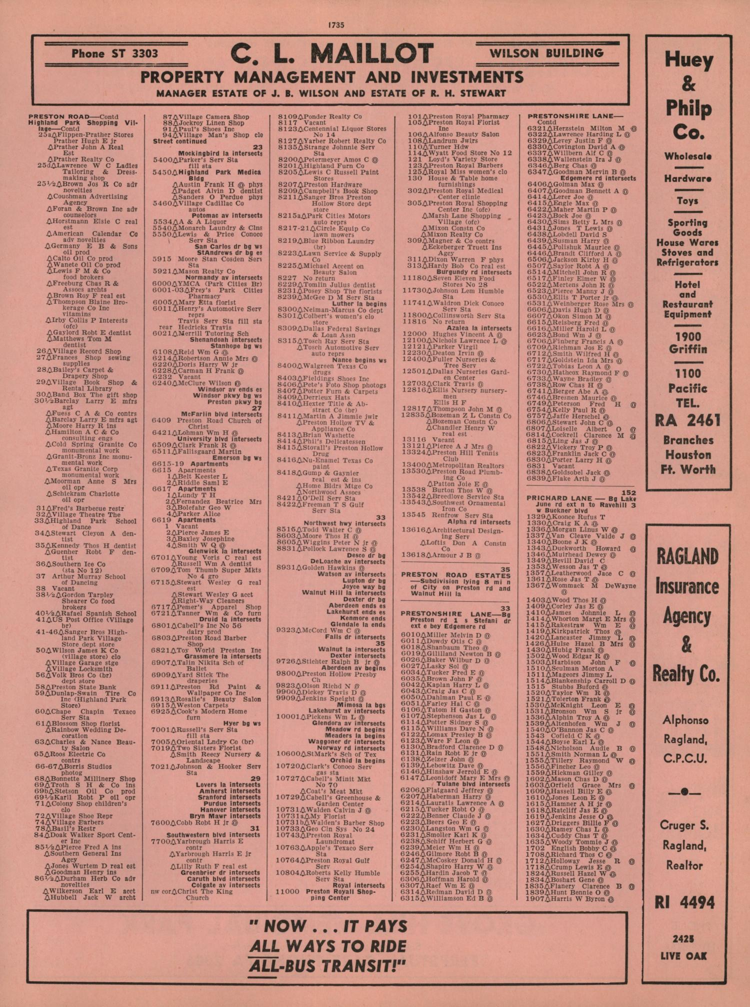 Perpetual Calendar 1800 To 2050 : Dallas city directory page the portal to texas history
