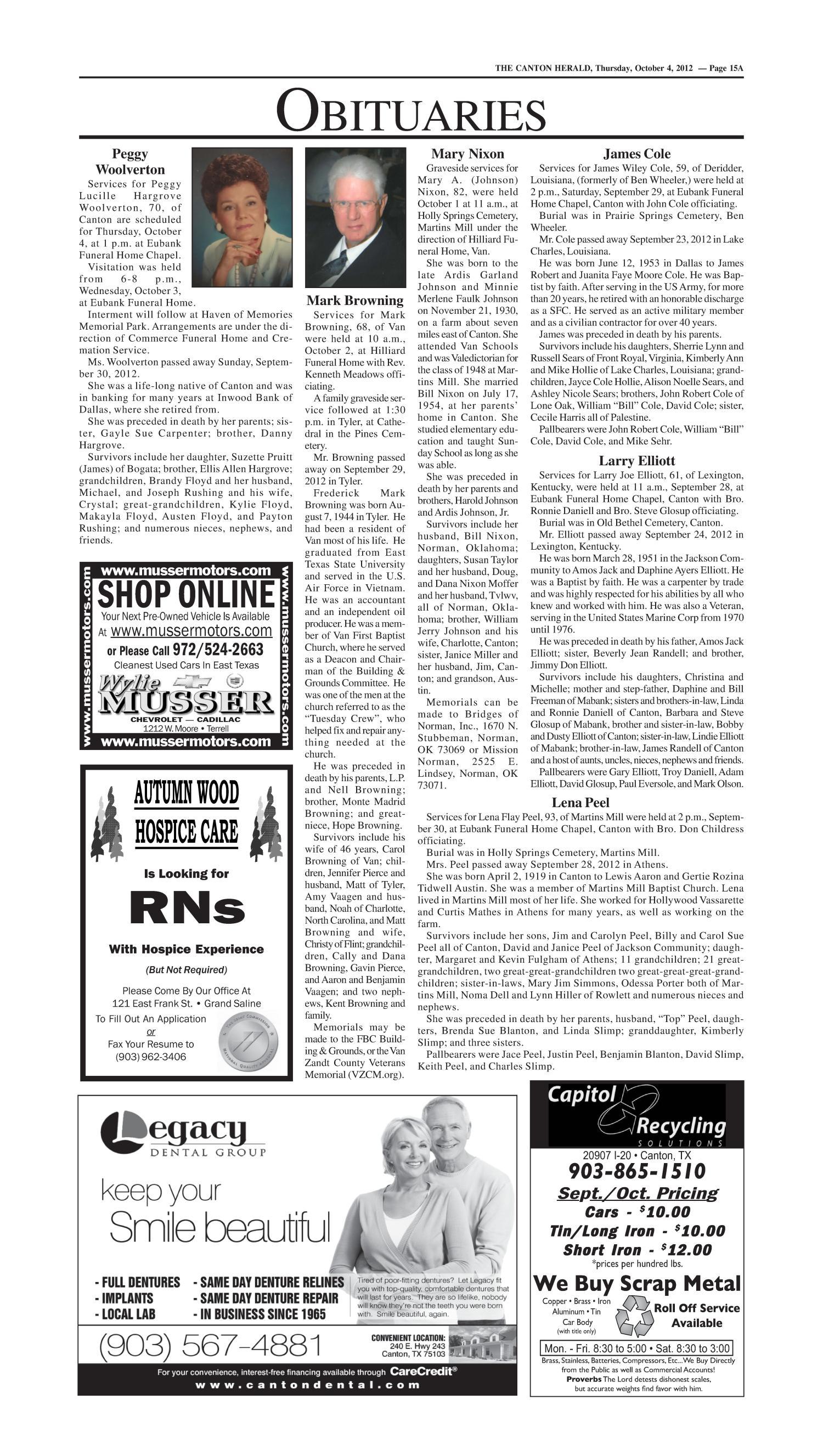 Canton Herald (Canton, Tex.), Vol. 129, No. 44, Ed. 1 Thursday ...
