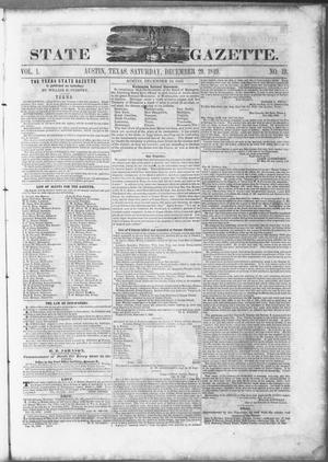Primary view of object titled 'Texas State Gazette. (Austin, Tex.), Vol. 1, No. 19, Ed. 1, Saturday, December 29, 1849'.