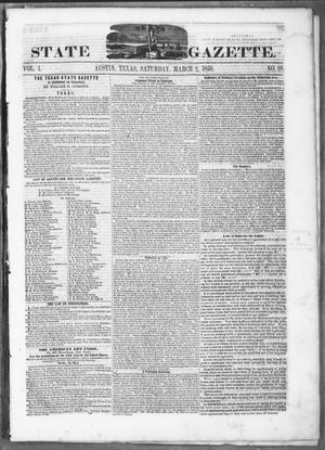 Texas State Gazette. (Austin, Tex.), Vol. 1, No. 28, Ed. 1, Saturday, March 2, 1850