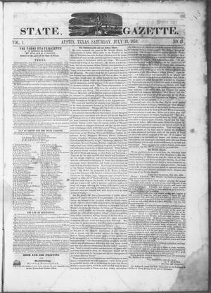 Primary view of object titled 'Texas State Gazette. (Austin, Tex.), Vol. 1, No. 47, Ed. 1, Saturday, July 13, 1850'.