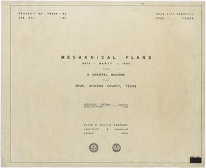 Primary view of object titled 'Hospital Building, Spur, Texas: Mechanical Plans Title Page'.