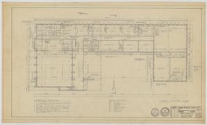 Primary view of object titled 'Highland Methodist Church, Odessa, Texas: First Floor Plan'.