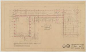 Primary view of object titled 'Highland Methodist Church, Odessa, Texas: Second Floor Framing Plan'.