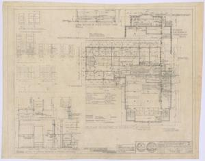 Primary view of object titled 'First Baptist Church Educational Building: First Floor Addition Plan and Details'.