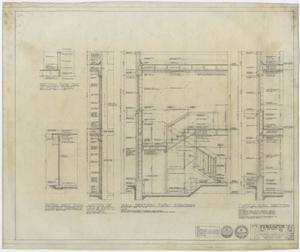 Primary view of object titled 'First Baptist Church Educational Building Additions: Section Drawings'.