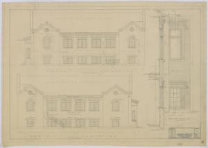 Primary view of object titled 'Baptist Church, Sterling City, Texas: Elevations'.