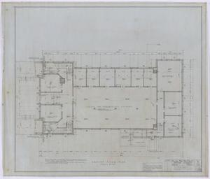 Primary view of object titled 'First Baptist Church, Rule, Texas: Ground Level Floor Plan'.