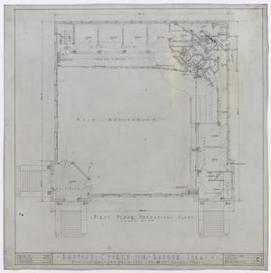 Primary view of object titled 'Baptist Church, Ranger, Texas: First Floor Mechanical Plan'.