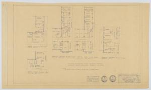 Primary view of object titled 'Midland Memorial Hospital, Midland, Texas: A Hospital Building, Partial Floor Plans'.