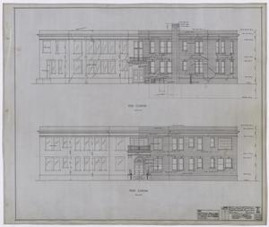 Primary view of object titled 'Hamilton Hospital, Olney, Texas: Front and Rear Elevations'.