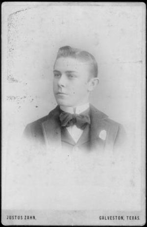 Primary view of object titled '[Albert Peyton George as a young man, facing to the left]'.