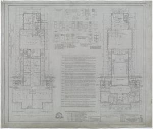 Primary view of object titled 'Hendrick Home for Children, Abilene, Texas: Basement Plan and First Floor Plan'.