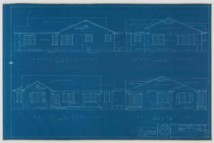 Primary view of object titled 'Hendrick Home for Children Superintendent's Home, Abilene, Texas: Elevation Plan'.