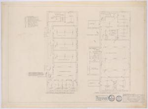 Primary view of object titled 'First Baptist Church Addition, Rule, Texas: First and Second Floor Electrical Plans'.