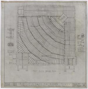 Primary view of object titled 'Baptist Church, Ranger, Texas: First Floor Framing Plan'.