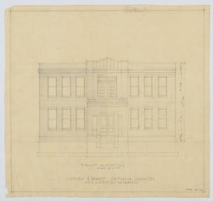 Primary view of object titled 'Sanitarium Building, Lamesa, Texas: Front Elevation'.