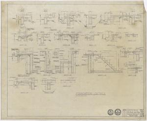 Primary view of object titled 'Hospital Building, Spur, Texas: Foundation Detail Plan'.