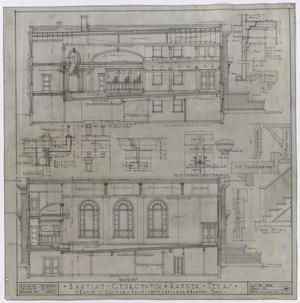 Primary view of object titled 'Baptist Church, Ranger, Texas: Interior Detail Plan'.