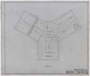 Primary view of object titled 'Hamilton Hospital, Olney, Texas: Roofing Plan'.