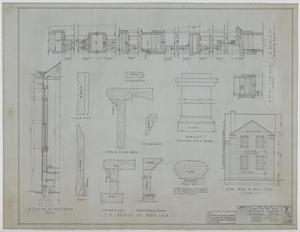 Primary view of object titled 'First Methodist Church, McCaulley, Texas: Elevation and Details'.