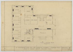 Primary view of object titled 'Sanitarium Building, Stamford, Texas: First Floor'.
