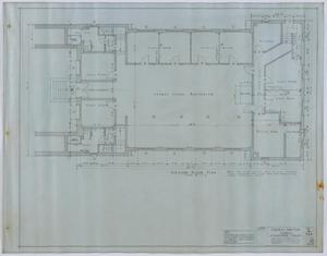 Primary view of object titled 'Central Christian Church, Stamford, Texas: Ground Floor Plan'.
