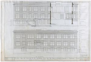 Primary view of object titled 'Sanitarium Building Additions, Stamford, Texas: East Elevation'.