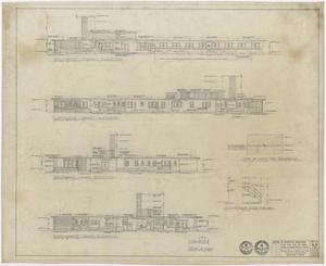 Primary view of object titled 'Hospital Building, Spur, Texas: Elevation Plan'.