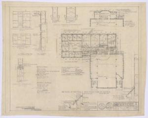 Primary view of object titled 'First Baptist Church Educational Building: Second Floor Addition Plan and Details'.