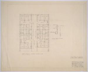 Primary view of object titled 'Midland Memorial Hospital, Midland, Texas: Preliminary Plans for Midland Memorial Hospital, Second Floor Ward'.