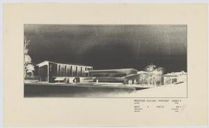 Primary view of object titled 'Highland Methodist Church, Odessa, Texas: Negative Isometric Projection Drawing'.