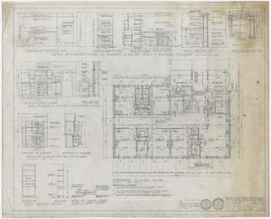 Primary view of object titled 'Hamilton Hospital Additions, Olney, Texas: Second Floor Layout'.