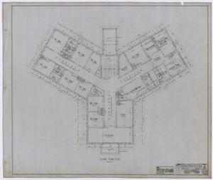 Primary view of object titled 'Hamilton Hospital, Olney, Texas: Second Floor Layout'.