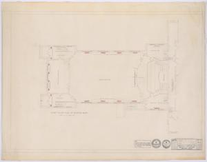 Primary view of object titled 'First Baptist Church Addition, Rule, Texas: Existing Building Floor Plan'.