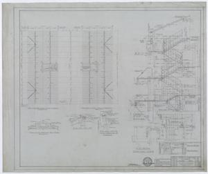 Primary view of object titled 'Hendrick Home for Children, Abilene, Texas: Dormitory Stair Details and Roof Framing Plan'.