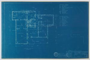 Primary view of object titled 'Hendrick Home for Children Superintendent's Home, Abilene, Texas: Mechanical Plan'.