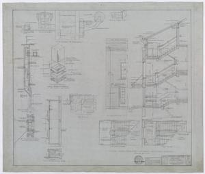 Primary view of object titled 'Hendrick Home for Children, Abilene, Texas: Dormitory Entrance and Stair Detail Plan'.