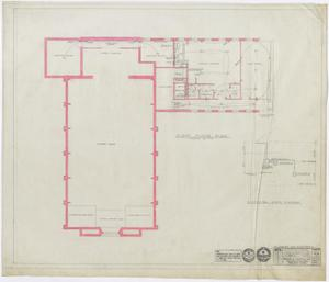 Primary view of object titled 'First Methodist Church Additions: Plumbing and Electrical Plan'.