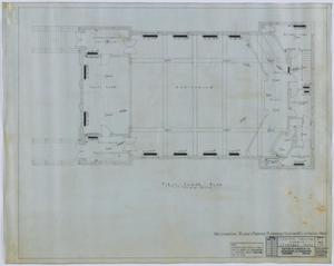 Primary view of object titled 'Central Christian Church, Stamford, Texas: First Floor Utility Plan'.