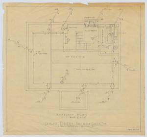 Primary view of object titled 'Sanitarium Building, Lamesa, Texas: Basement Plan'.