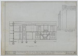 Primary view of object titled 'Sanitarium Building, Stamford, Texas: Side Elevation'.